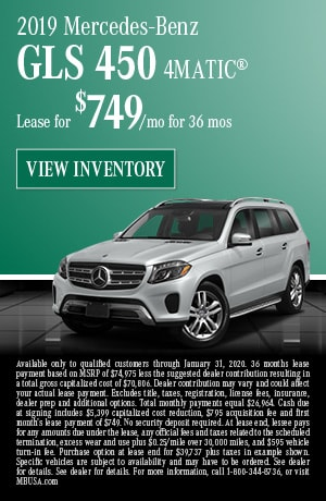 January 2019 Mercedes-Benz GLS 450 4MATIC® Lease Offer