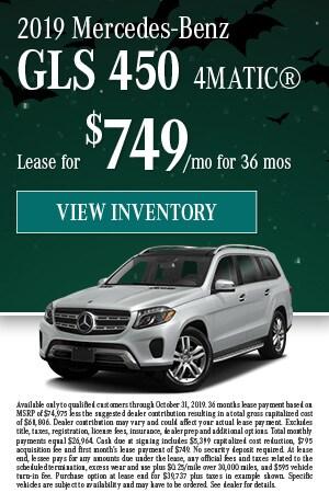 October 2019 Mercedes-Benz GLS 450 4MATIC® Offer