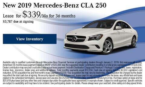2019 Mercedes-Benz CLA 250 Offer