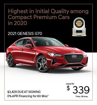 2021 Genesis G70 Dec. Lease Offer