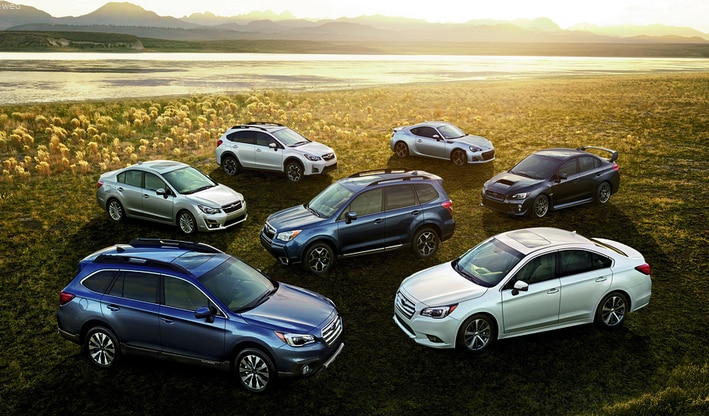 Subaru Model Line-Up of Cars & SUVs