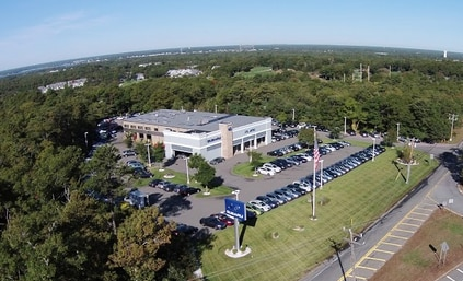 aerial view of Atlantic Subaru, our new & used car dealership