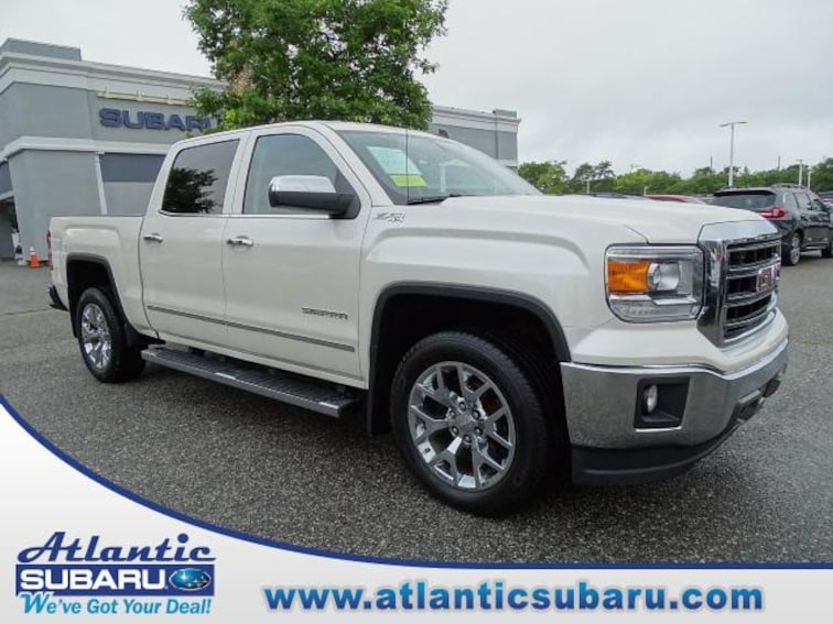 Used 2014 GMC Sierra 1500 4WD Crew Cab 143.5 SLT Truck Crew Cab for sale on Cape Cod MA