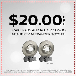 Save $20.00 On Brake Pads and Rotor Combo
