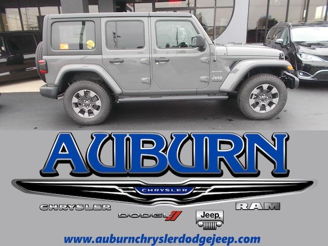 New 2018 Jeep Wrangler UNLIMITED SAHARA 4X4 Sport Utility for sale in Auburn, IN