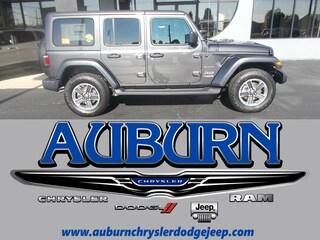 New 2018 Jeep Wrangler UNLIMITED SAHARA 4X4 Sport Utility 1C4HJXEG5JW220442 for sale in Auburn, IN