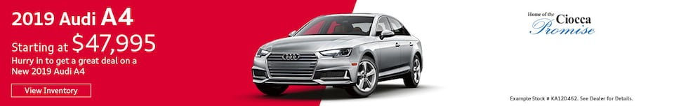 2019 Audi A4 Starting At $47,995