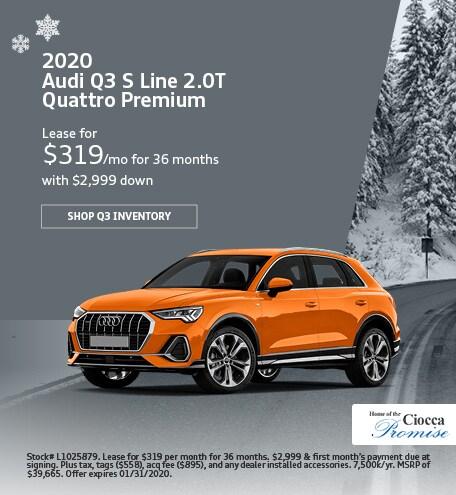 January 2020 Audi Q3 S Line 2.0T Quattro Premium