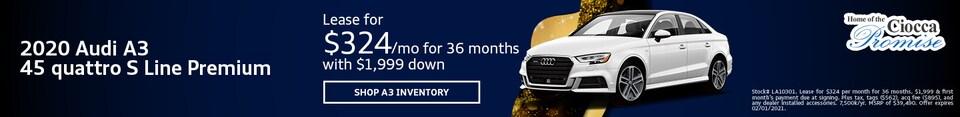 2020 Audi A3 45 quattro S Line Premium