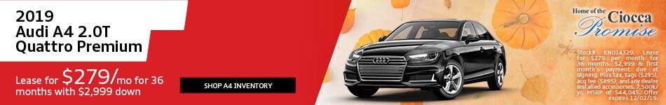 November 2019 Audi A4 2.0T Quattro Premium