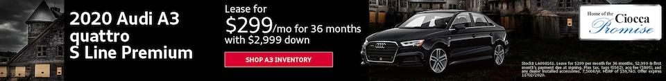 2020 Audi A3 quattro S Line Premium