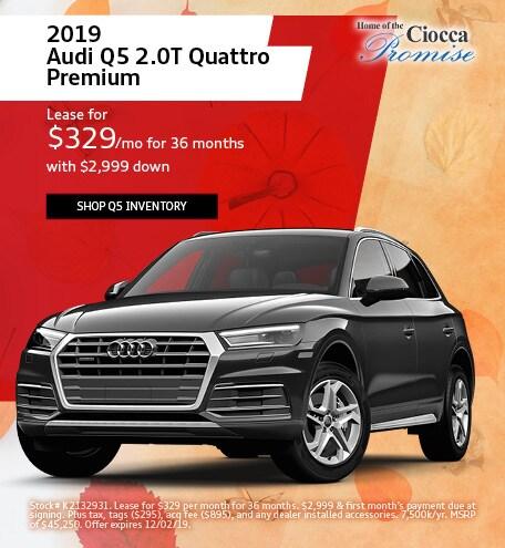November 2019 Audi Q5 2.0T Quattro Premium