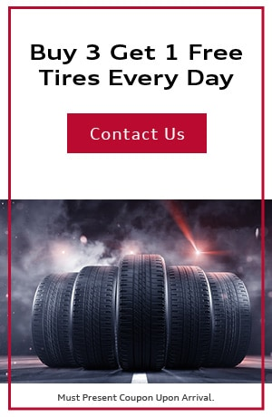 Buy 3 Get 1 Free Tires Every Day
