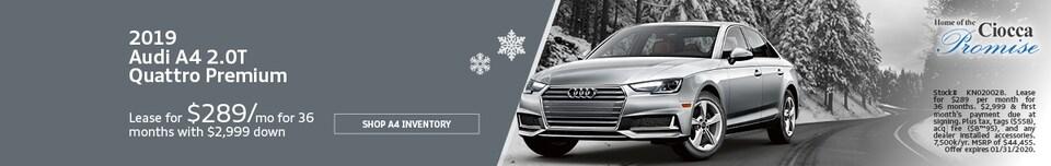 January 2019 Audi A4 2.0T Quattro Premium