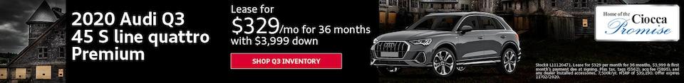 2020 Audi Q3 45 S line quattro Premium