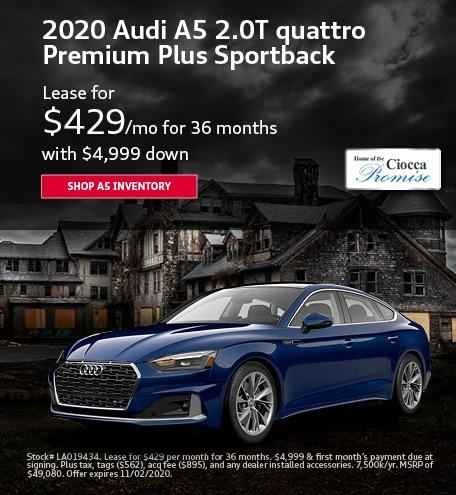 2020 Audi A5 2.0T quattro Premium Plus Sportback