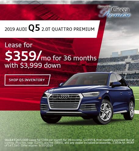 Lease 2019 Audi Q5 9/10/2019