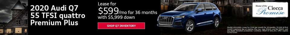 2020 Audi Q7 55 TFSI quattro Premium Plus