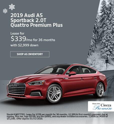 January 2019 Audi A5 Sportback 2.0T Quattro Premium Plus