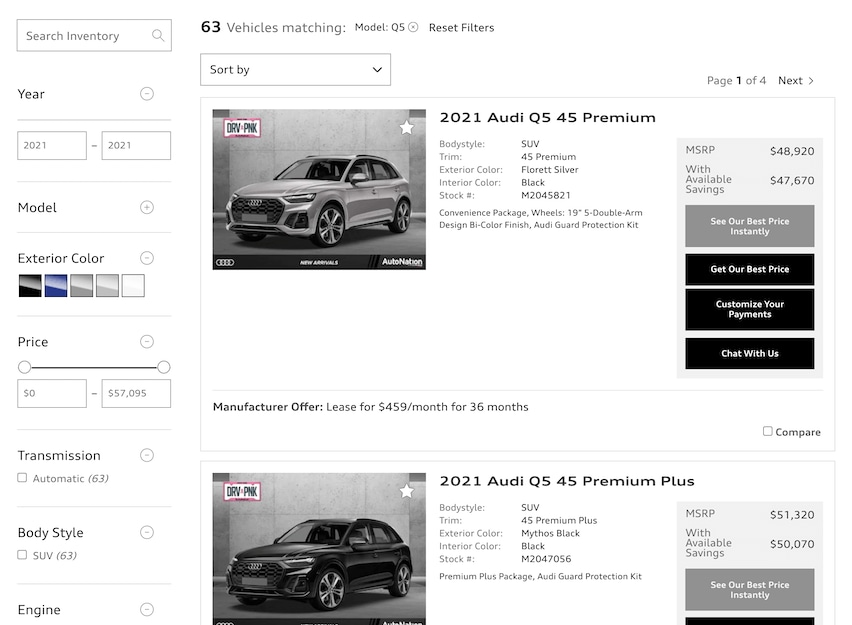 Audi Hunt Valley inventory