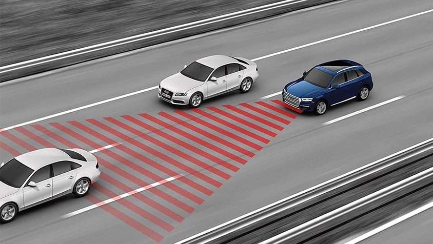Audi adaptive cruise control graphic