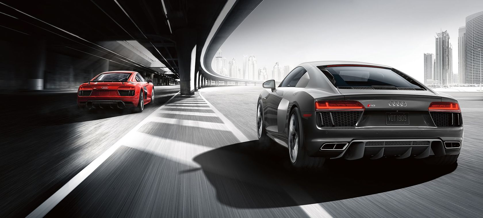 Audi R8 models with quattro® all-wheel drive