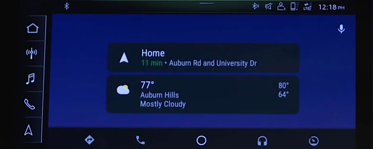 Audi Android Auto screen