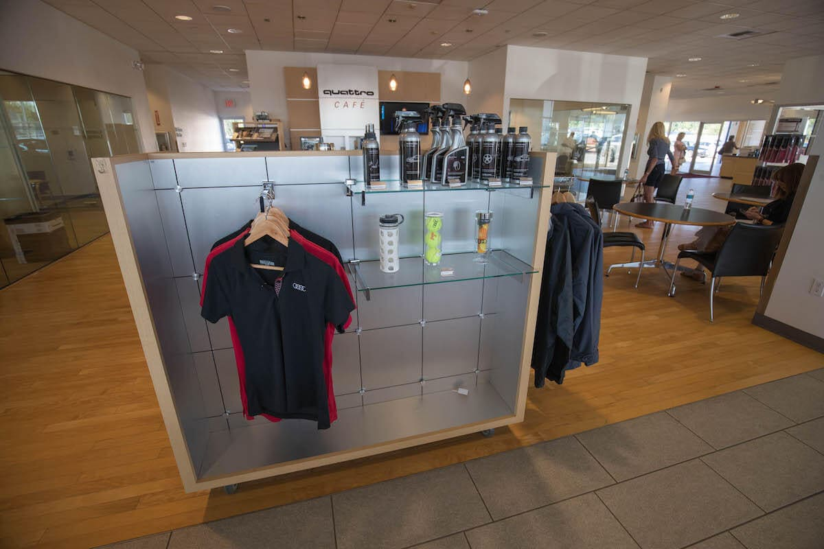 Audi apparel, lifestyle accessories, and car care supplies at Audi Bellevue