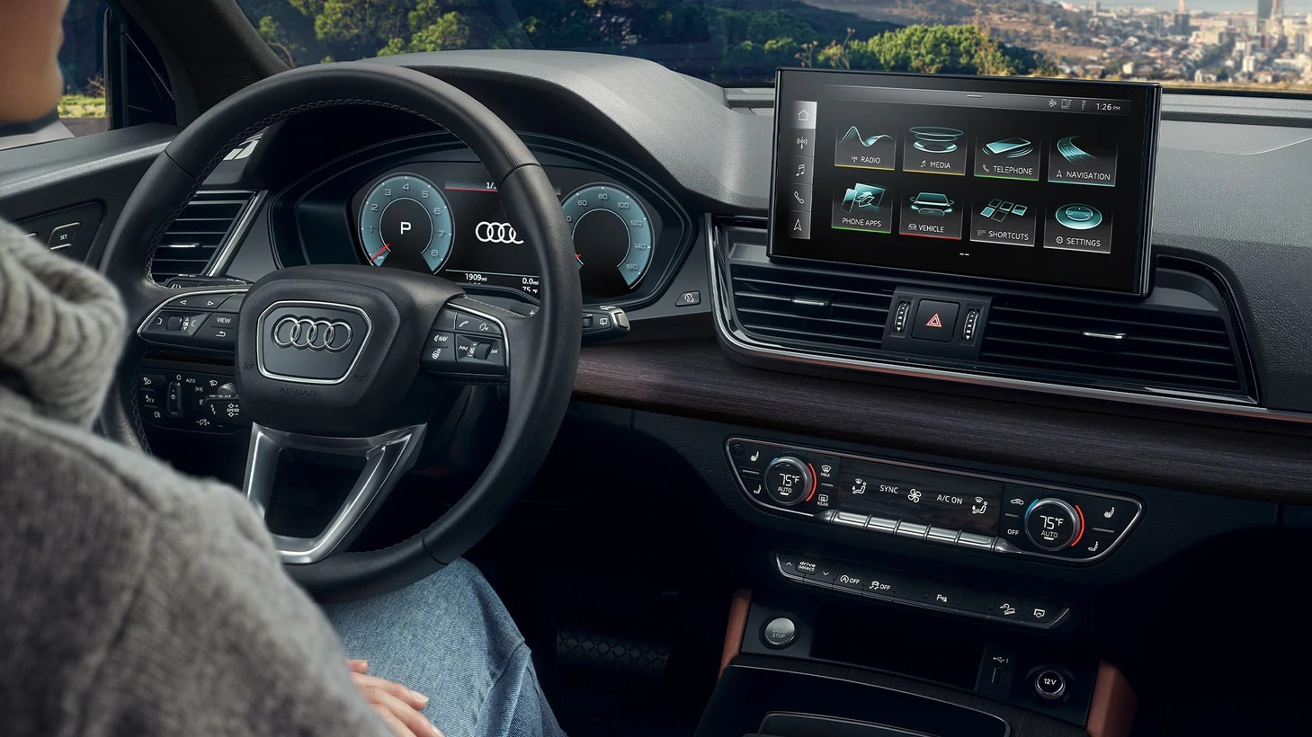 2021 Audi Q5 with available Audi virtual cockpit and 12.3-inch instrument display