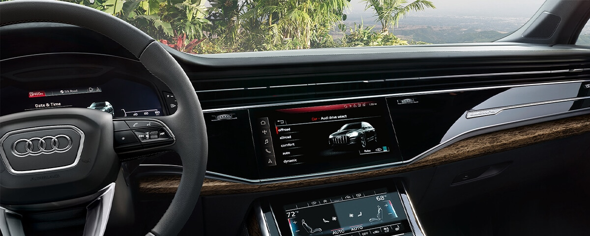 Audi Drive Select modes on the Audi MMI touchscreen