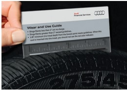 Audi Wear and Use Guide measuring tire tread life