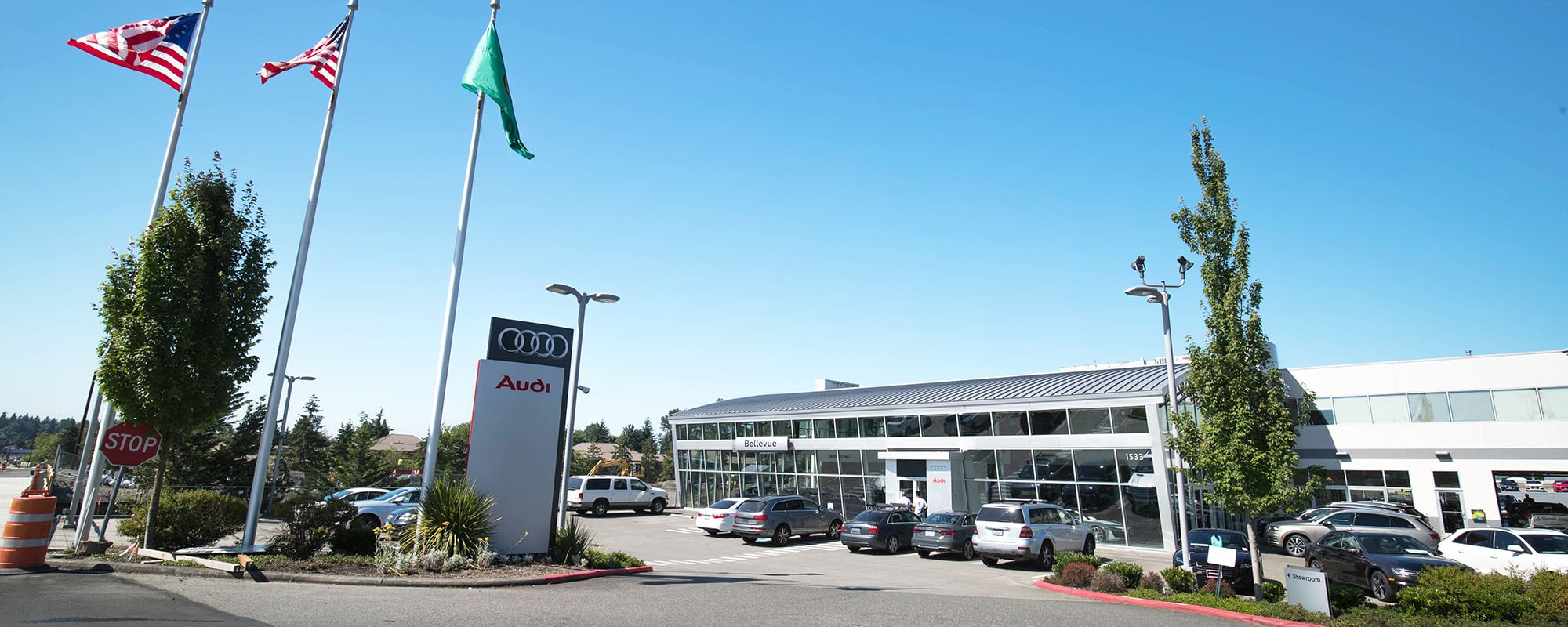 Outside view of Audi Bellevue