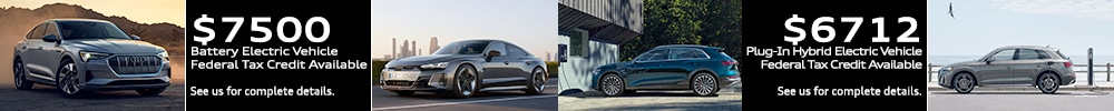 Audi e-tron tax credit offers