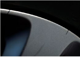 Edge of Audi wheel