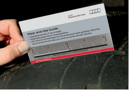 Audi Wear and Use Guide measing bald tire tread