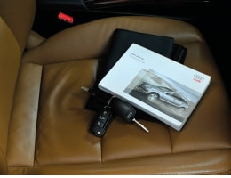 Audi interior seat with all owner's manuals and keys
