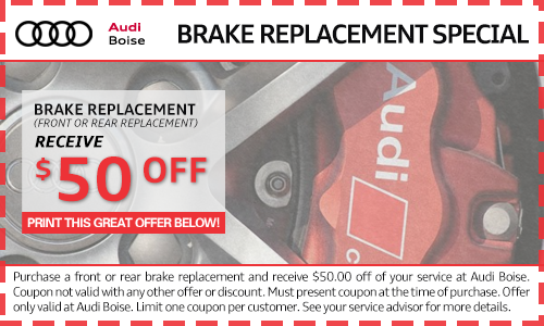 brake replacement service specials at Audi Boise dealership near Nampa