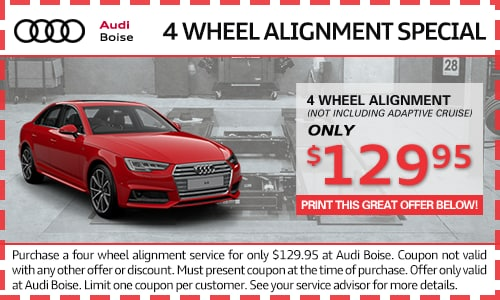 4 Wheel Alignment service specials at Audi Boise dealership near Nampa