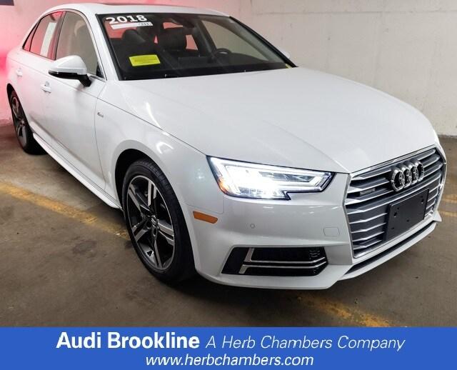 Certified Inventory 2018 Audi A4 Premium Plus Sedan Brookline MA