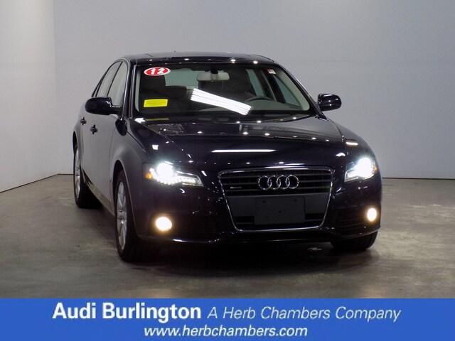 Used 2012 Audi A4 2.0T Premium Sedan Burlington MA