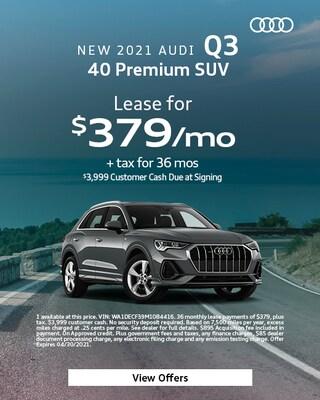 New 2021 Audi Q3 40 Premium SUV