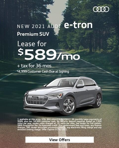 2021 Audi e-tron -  $589