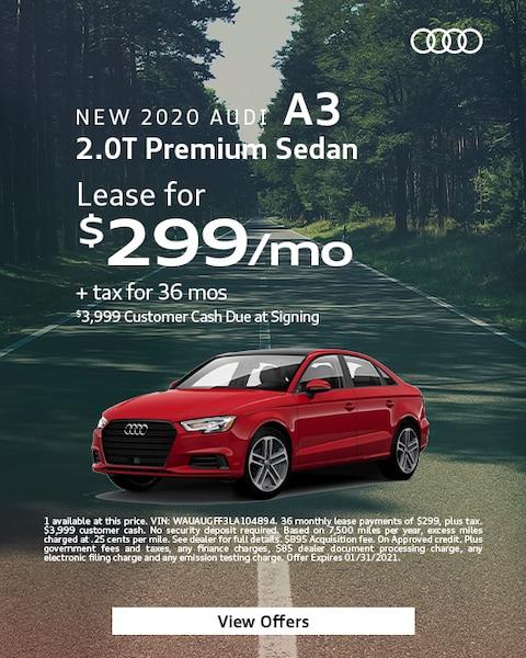 2020 Audi A3 - $299
