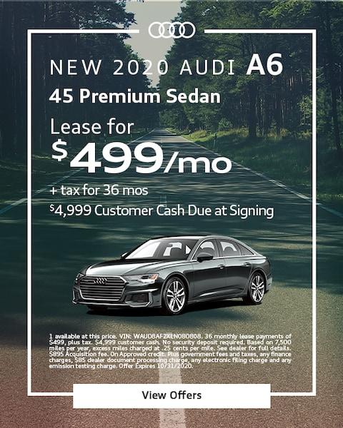 2020 Audi A6 - $499
