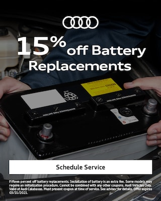 15% Off Battery Replacements