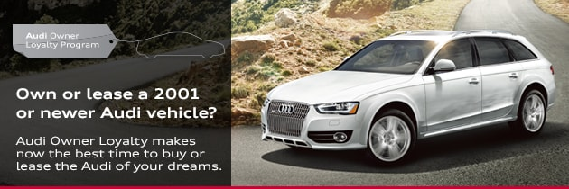 Audi Owner Loyalty Offers For Current Owners In Raleigh Cary NC - Audi loyalty