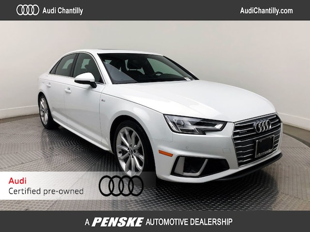 Used 2019 Audi A4 2.0T Premium Sedan for Sale in Chantilly, VA
