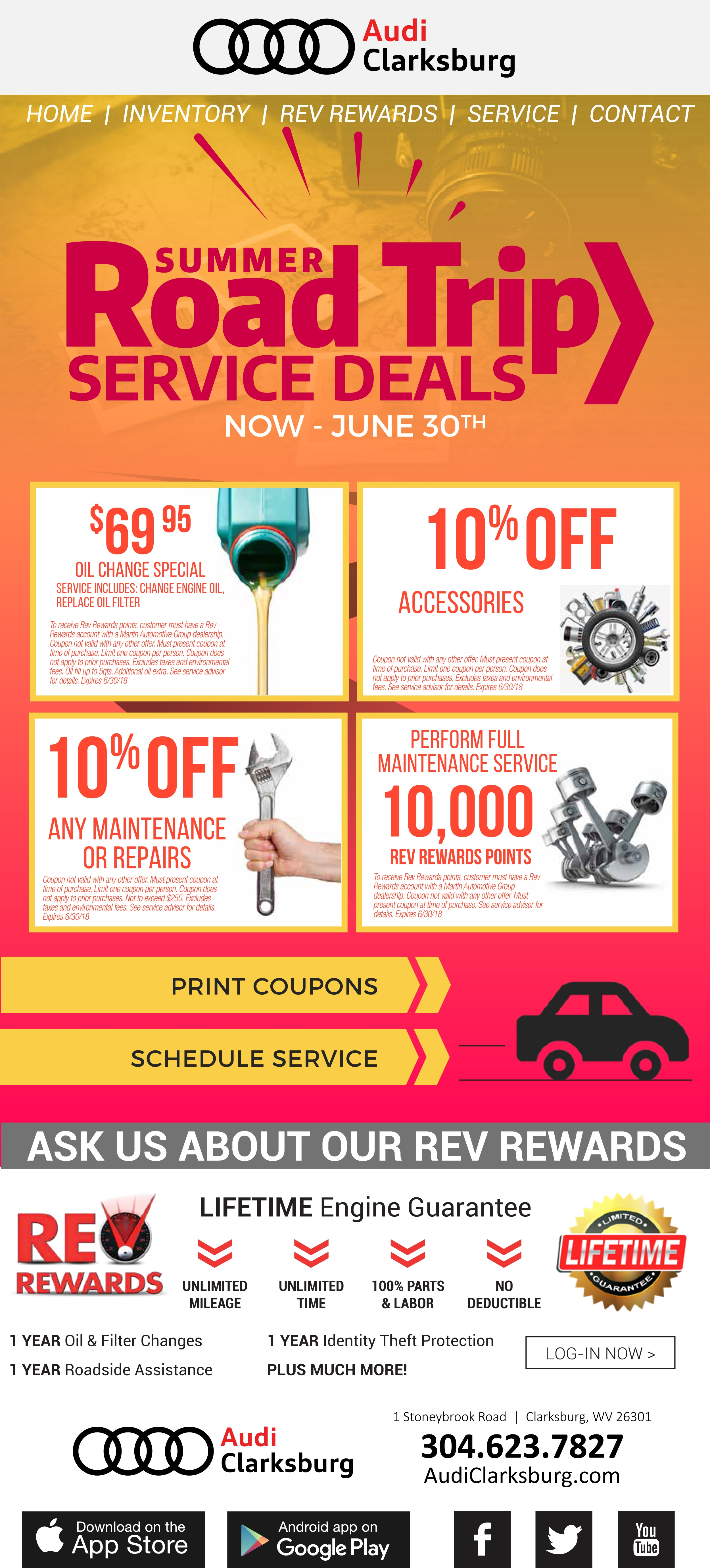 oct coupon special reeves motorcars change offers amalie import oil audi service exclusive