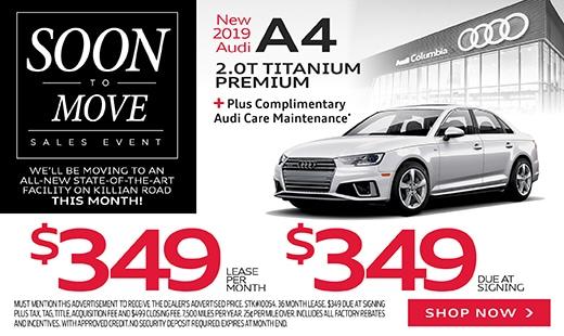 (October) New 2019 Audi A4 Titanium Premium