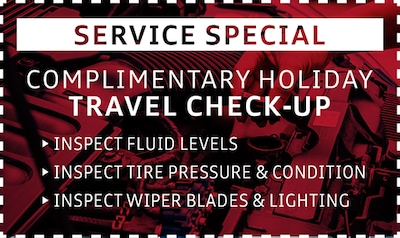 Complimentary Holiday Travel Check-Up 